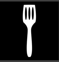 Kitchen spatula the white color icon vector