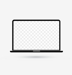 Laptop isolated flat icon pc computer white screen vector