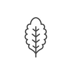 leaf line icon vector image