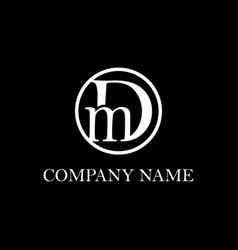 Letter dm logo design inspiration clean vector