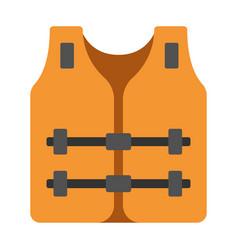 Life jacket flat vector