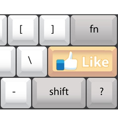 Like key on computer keyboard vector image