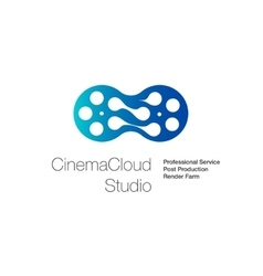 Logo for cinema cloud studio computing vector