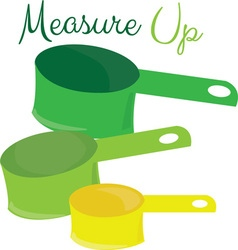 Measure Up vector image