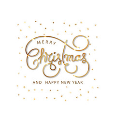 merry christmas calligraphic inscription vector image