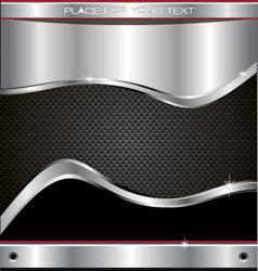 metal fiber background vector image
