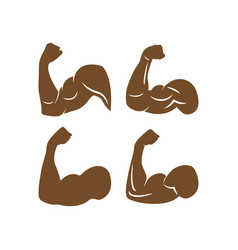 Muscle arm icon design template isolated vector