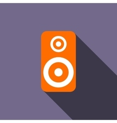 Music speaker icon flat style vector image
