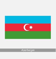 National flag azerbaijan azerbaijani country vector