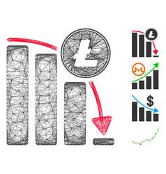 Network litecoin falling acceleration chart vector