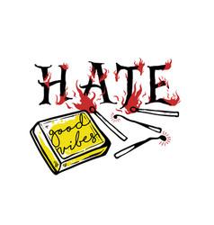 no hate vector image