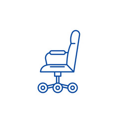 office chair from side line icon concept vector image
