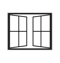 Open window icon vector