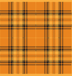 Orange and black tartan plaid scottish pattern vector