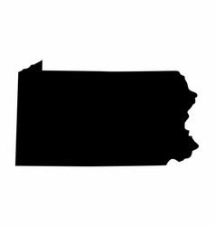 Pennsylvania silhouette map vector