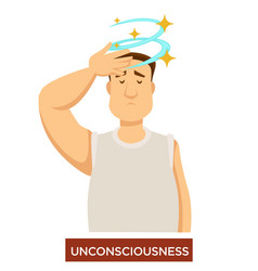 person experiencing unconsciousness and fainting vector image