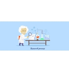 Research process icon flat design vector
