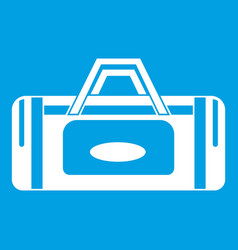 Road bag icon white vector
