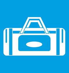 road bag icon white vector image