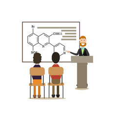 science people concept in flat vector image