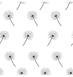 seamless pattern with dandelions on white vector image