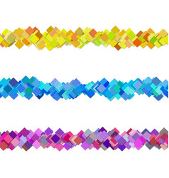 seamless random square pattern paragraph divider vector image