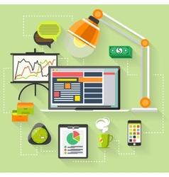 Seo optimization programming process vector
