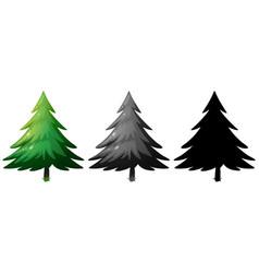 Set pine tree vector