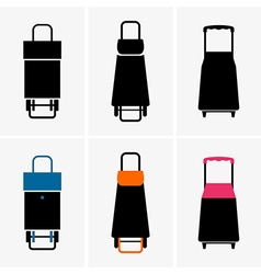 Shopping trolley bags vector
