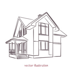 sketch of individual house vector image