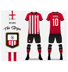Soccer jersey or football kit template design vector