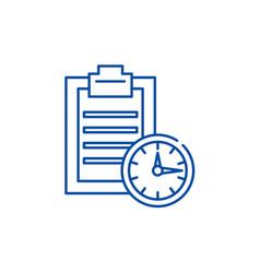 time limit line icon concept time limit flat vector image