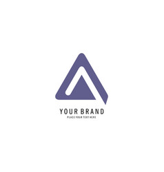 triangle business symbol logo vector image
