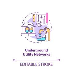 Underground utility network concept icon vector