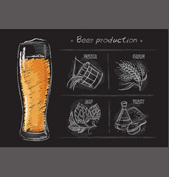 vintage hand drawn of brewers vector image