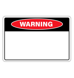 warning sign danger with empty space for text vector image