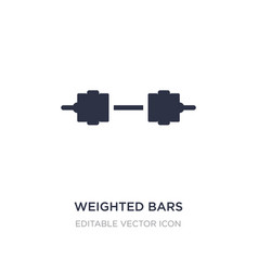 Weighted bars icon on white background simple vector