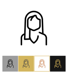 Woman icon black office admin sign or consultant vector