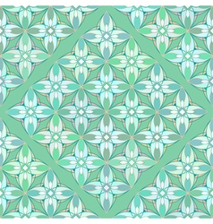 Floral Geometrical Pattern in Greenish Colors vector image