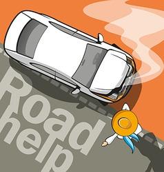 Road Help vector image