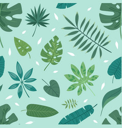 tropical leaves summer green exotic jungle vector image vector image