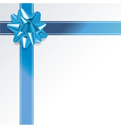 Blue Present and Ribbon Background vector image