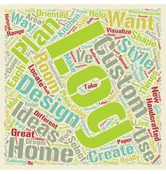 Custom Log Home Design Ideas text background vector image