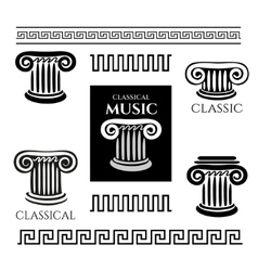 Greek colony and ornaments vector image