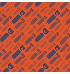 H-Bobms seamless pattern vector image vector image