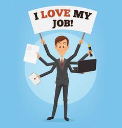happy successful smiling businessman vector image vector image