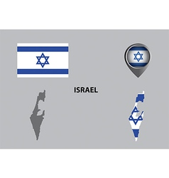 Map of Israel and symbol vector image