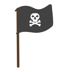 Pirate flag isolated vector image