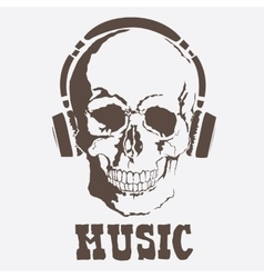 skull Music style vector image