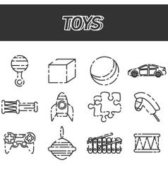 Toys icon set vector image